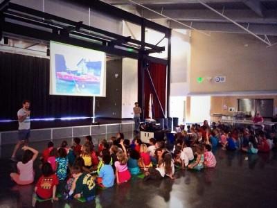 CC4 Pacific – Présentation dans une école américaine